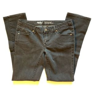 Mossimo Black Mid Rise Straight Jeans